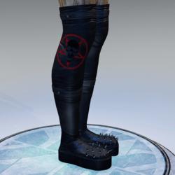 Spiked boots Pentagram