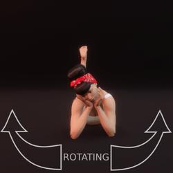 modelpose liegend 08 rotating