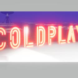 Coldplay 3D text