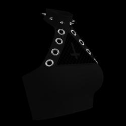 Inverted Cross Halter Top (Black)