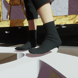 Charcoal black socks