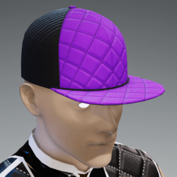 Purple and Black Scorpion Cap