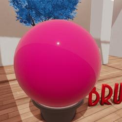 sugar pink sphere