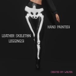 Leather Skeleton Leggings