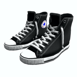 Girl shoes San-Star sneakers high black for woman