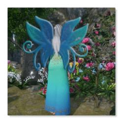 Wings 5 - Gradient Blue Green