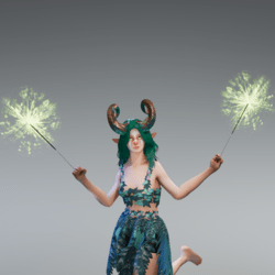 Green Dual Sparklers