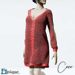 Coco Red Sweater dress cutout arms