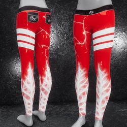 Leggings Cyber Dust red