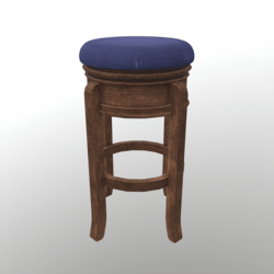 Barstool #3 (Wooden/Fabric)