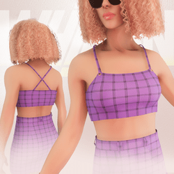 Violet Iconic Top