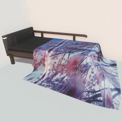 Modern bed - cherry blossom