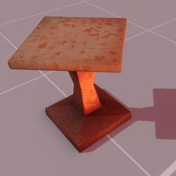 Astra stool orange
