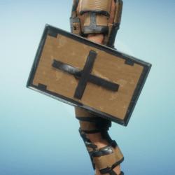 cardboard shield male