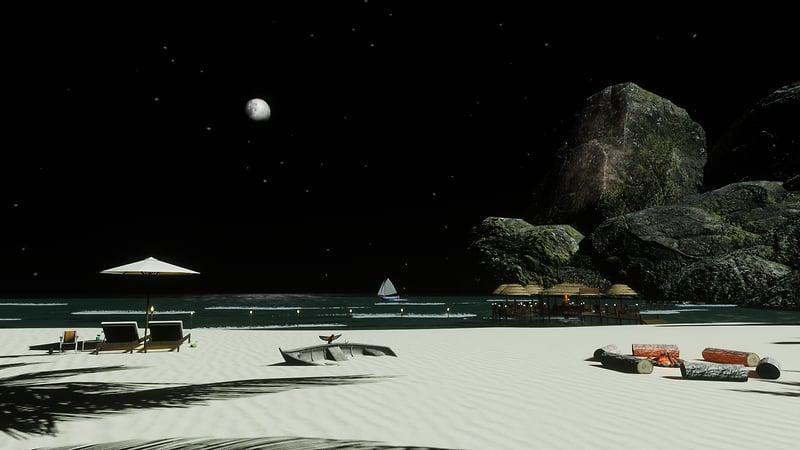 Ayruma Bay At Night