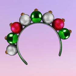 Ornaments Headband Green Pink Silver