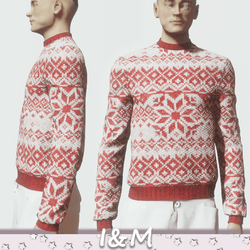 sweater red and white