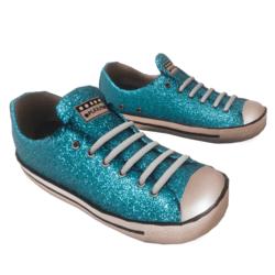 Glitter Sneakers blue