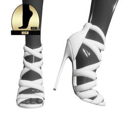 Strappy stiletto sandals for h2ai high - white