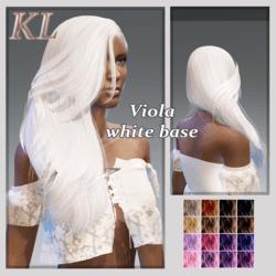 Viola -white base
