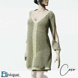 Coco Cream Sweater dress cutout arms