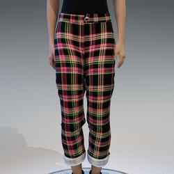 pink & green checkerd pants