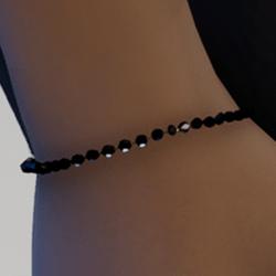 Black beaded bracelet