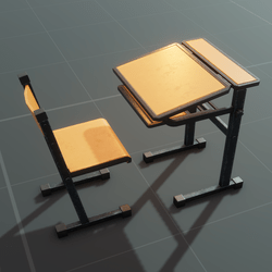 Chair And Desk Set | Tintable