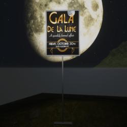 Gala De La Lune Halloween Party Sign