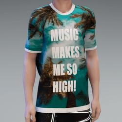 Music Makes Me High - T-shirt
