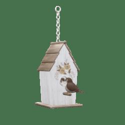 Birdhouse with birds