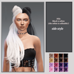 Nila black n white-side style