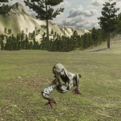 zombie girl Crawl NPC (FROM MIXAMO)