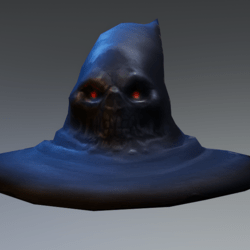 witch hat with face