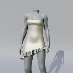 SUZY Champagne Asymetrique Dress