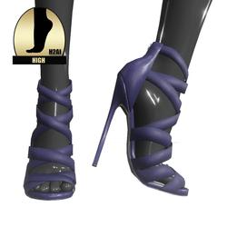Strappy stiletto sandals for h2ai high - purple