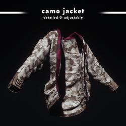 Camouflage Jacket (Rich Maroon)