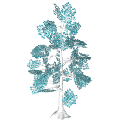 Tree - Fae Forest Tree - Teal Star Flower