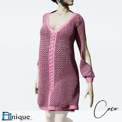 Coco Pink Sweater dress cutout arms