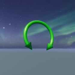 neon green spikey septum uwu