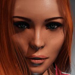Irene Head with wet skin (eyeliner)  for Kismet Body by Apocalypse Bunnies