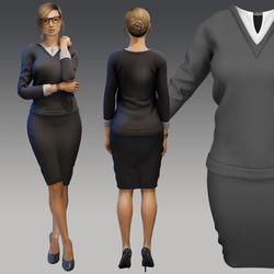 Womens Office Formal Business Work Pencil Dress