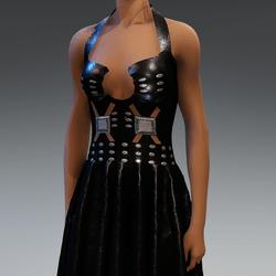 Leather Hard Rock Dress