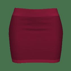 Woman Simple Skirt - Bordeaux