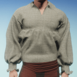 Poet Shirt in Unbleached Hemp