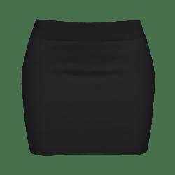 Woman Simple Skirt - Black