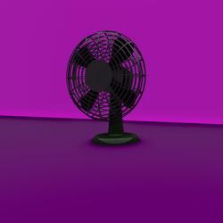 Modern Desk Fan / Animated.