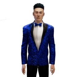 Glitter Tuxedo blue