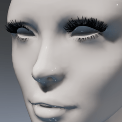 Lashes (feathery and giant!) for the Irene Head by Apocalypse Bunnies