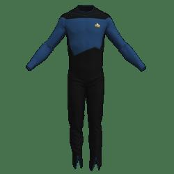 Star Trek - TNG Season 1&2  - Male Officer Uniform (Roleplay Fanwear)